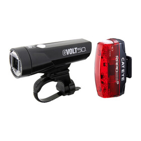 CatEye GVolt 50 HL-EL550GRC + Rapid Micro G Hl-EL620G Set Fietsverlichting sets zwart